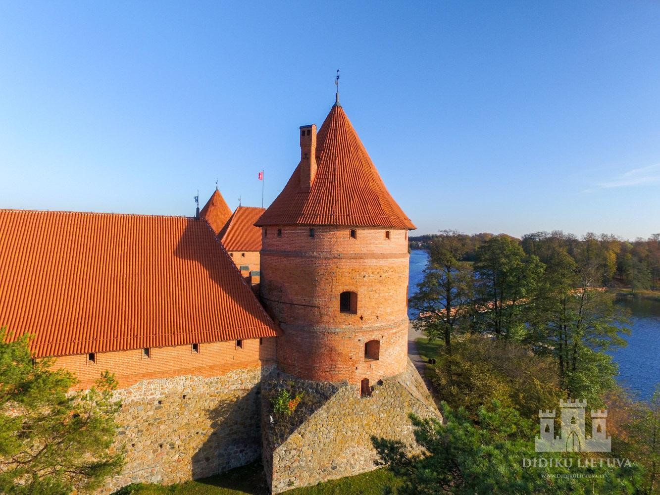 Trakų salos pilies pietvakarių bokšto liekanos